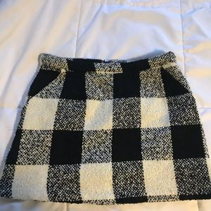 B&W checkered skirt